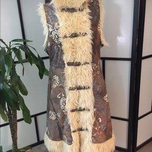 Fun faux fur vest
